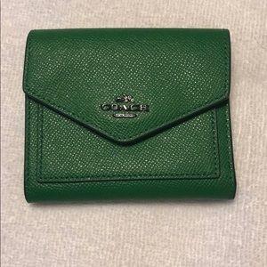 Emerald Green Coach Wallet